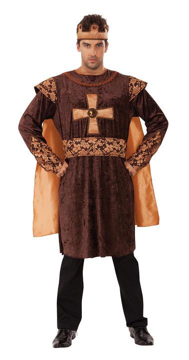 Mens Golden King Fancy Dress Costume  Thumbnail 1