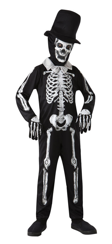 SALE Kids Zombie Skeleton Bones Boys Halloween Fancy Dress Childs Costume Outfit