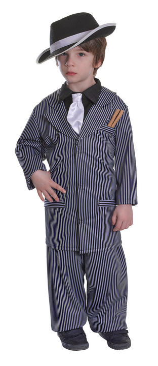 Boys Gangster Fancy Dress costume  Thumbnail 1