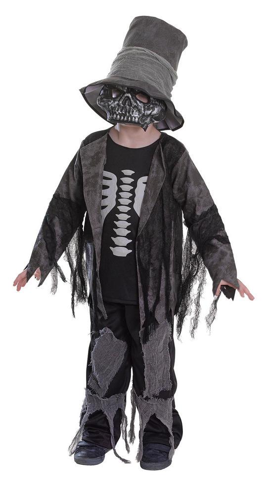 SALE! Kids Spooky Zombie Gravedigger Boys Halloween Fancy Dress Costume Outfit