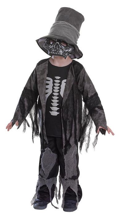 SALE! Kids Spooky Zombie Gravedigger Boys Halloween Fancy Dress Costume Outfit Thumbnail 1