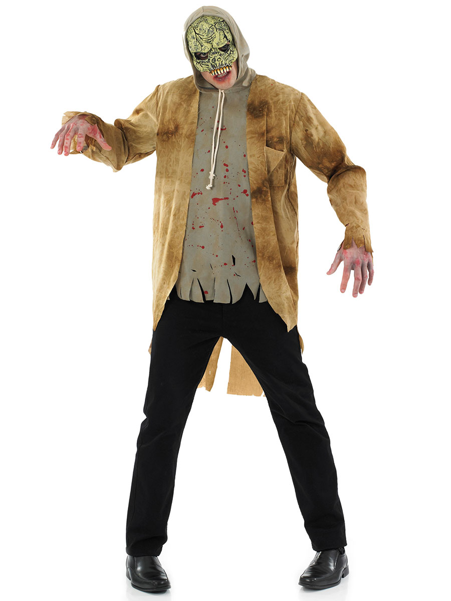 adult walking dead zombie & mask mens halloween party fancy dress