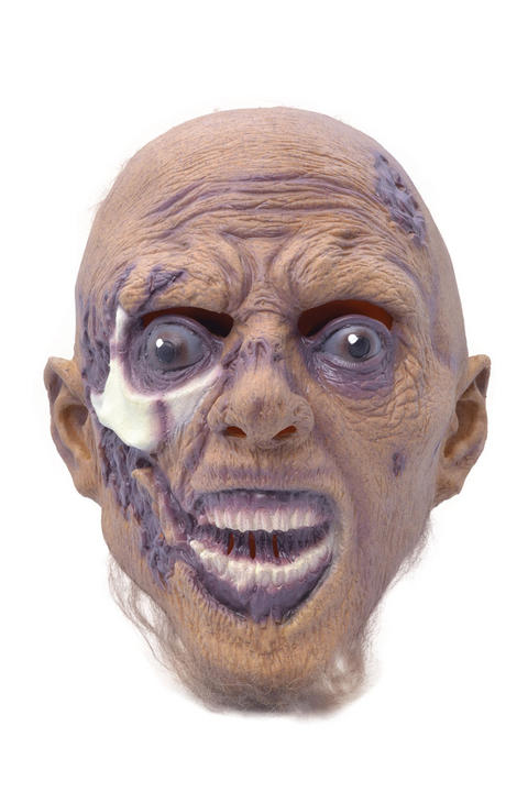 Adult Halloween Horror Latex Grave Riser Mask Fancy Dress Accessory Thumbnail 1
