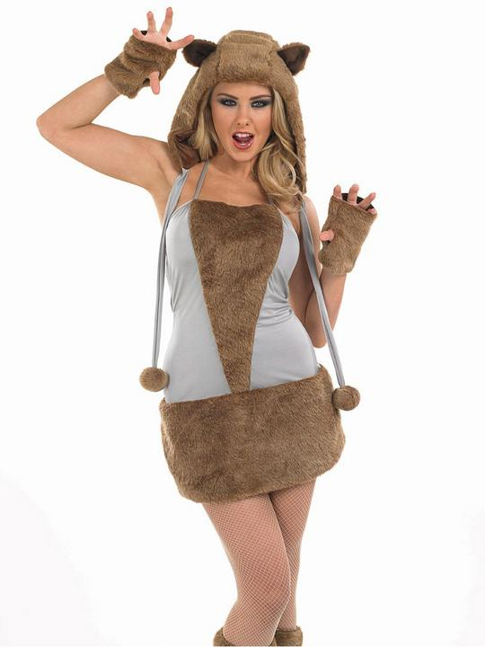 Fox Ladies Fancy Dress Hen Party Costume Outfit SALE Adult Sexy Animal   Thumbnail 1