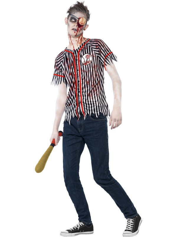 Teen Zombie Baseball Player Costume