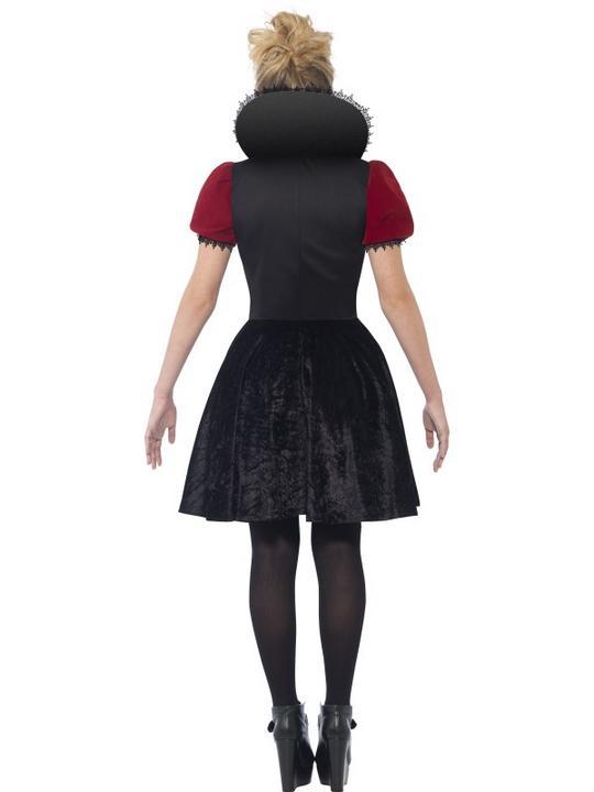 Kids Deluxe Dark Heart Red Queen Girls Halloween Fancy Dress Teen Costume Outfit Thumbnail 2