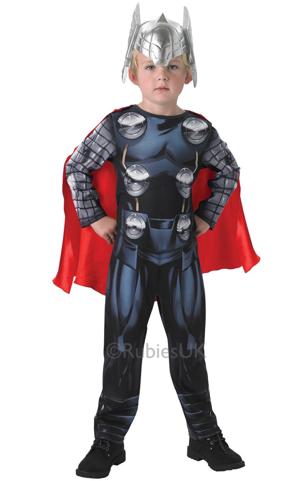 Marvel Avengers Assemble Thor Boys Fancy Dress Up Classic Costume u0026 Helmet  sc 1 st  Wonderland Party & SALE! Marvel Avengers Assemble Thor Boys Fancy Dress Up Classic ...