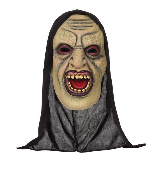 Adults Demon Open mouthed Mask  with Hood Thumbnail 1