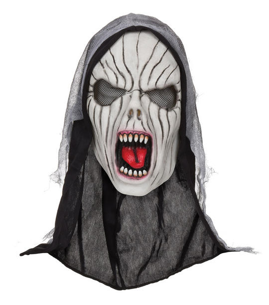 Adults Shrieking Banshee Mask with Hood  Thumbnail 1