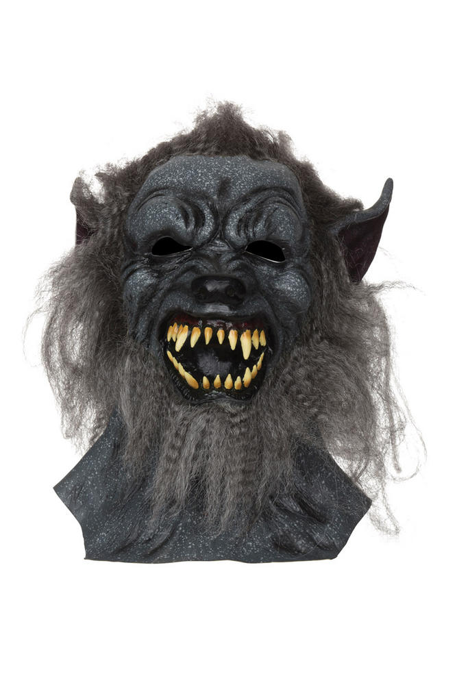 Adult Wolf Mask Grey hair