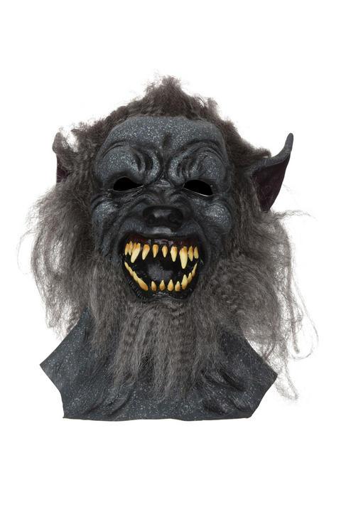 Adult Wolf Mask Grey hair  Thumbnail 1