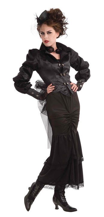 Womens Halloween Steampunk Victorian Lady Dress Fancy Dress Costume Thumbnail 1