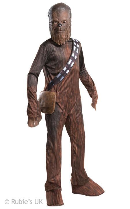 SALE! Boys Chewbacca Wookie Star Wars Kids Fancy Dress Costume Force Awakens Thumbnail 1