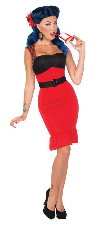 Scarlet Rose Retro Dress Thumbnail 1