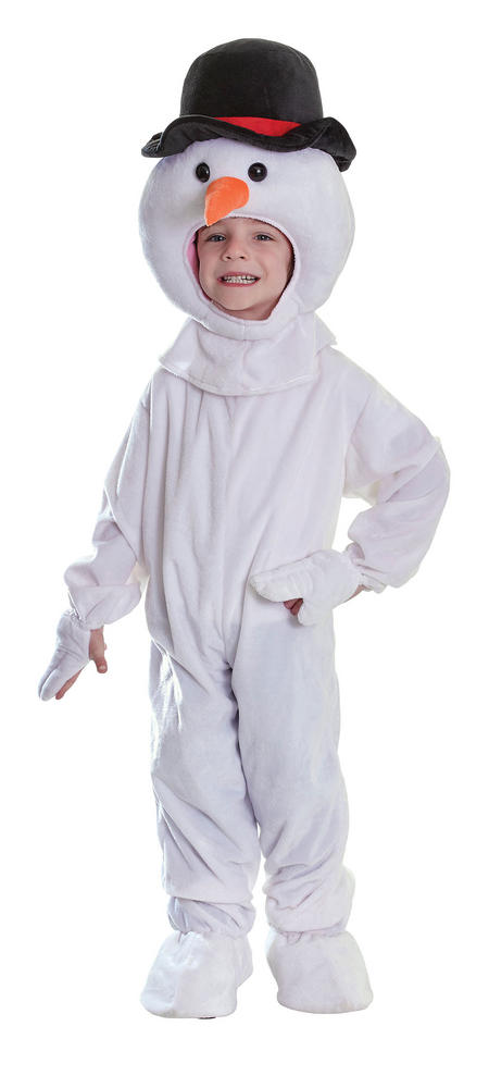 Childs Snowman Plush Fancy Dress Costume