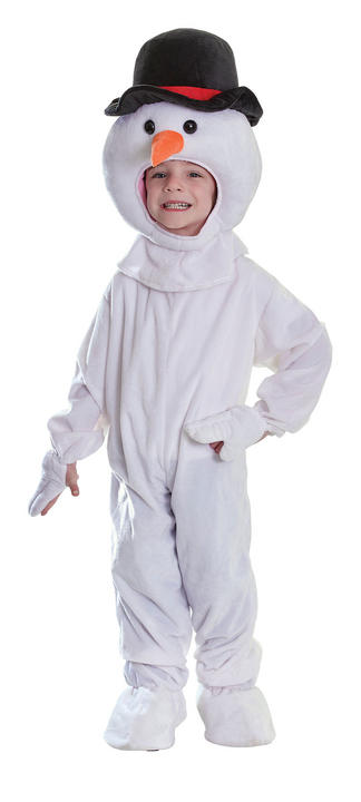 Childs Snowman Plush Fancy Dress Costume Thumbnail 1