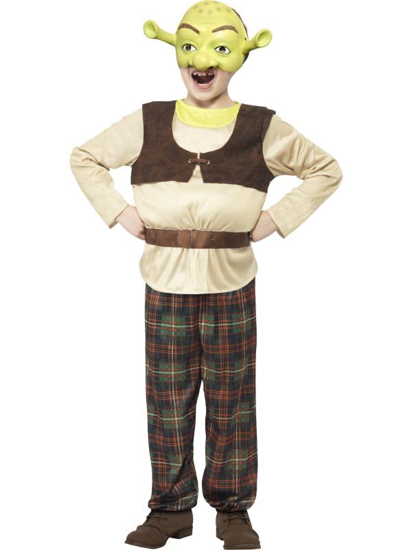 NEW Childrens Shrek Ogre Costume Licensed Kids Boys Book Week Fancy Dress Outfit
