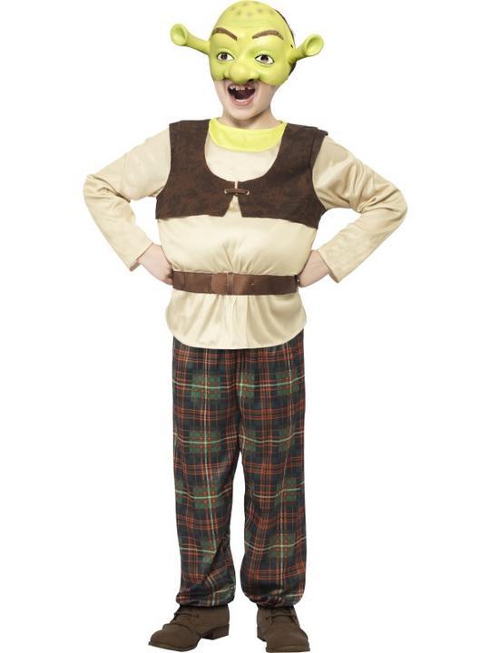 NEW Childrens Shrek Ogre Costume Licensed Kids Boys Book Week Fancy Dress Outfit Thumbnail 1