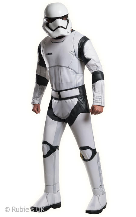 Mens Disney Star Wars Deluxe Stormtrooper White Fancy Dress Costume  Thumbnail 1