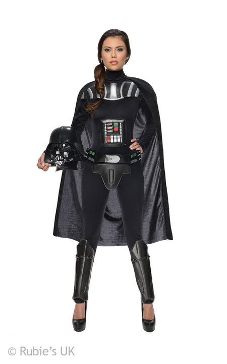 Darth Vader Womens Disney Star Wars  Fancy Dress Costume Outfit Thumbnail 1