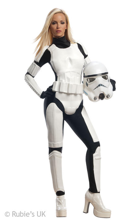 Womens Disney Star Wars Stormtrooper Fancy Dress Costume  Thumbnail 1