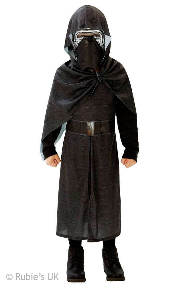 Boys Kylo Ren Costume Kids Disney Star Wars Fancy Dress Outfit Licensed