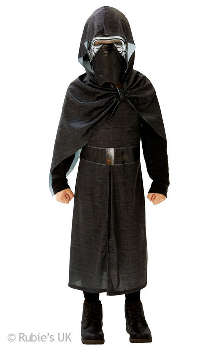 Boys Kylo Ren Costume Kids Disney Star Wars Fancy Dress Outfit Licensed   Thumbnail 1