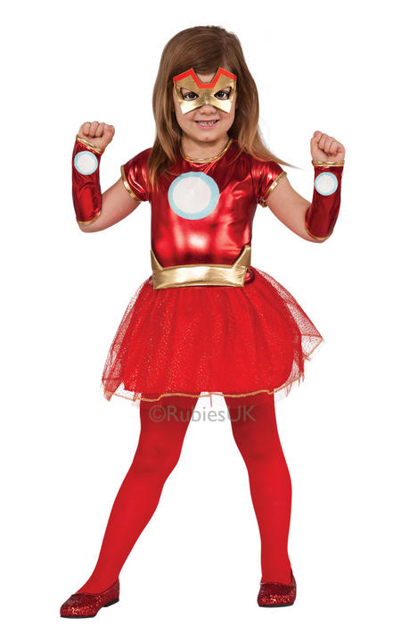 Girls Marvel LIL IRON LADY Fancy Dress Costume  Thumbnail 1