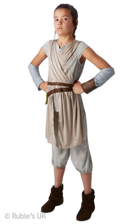 Girls Deluxe Disney Star Wars Rey Costume  Thumbnail 1
