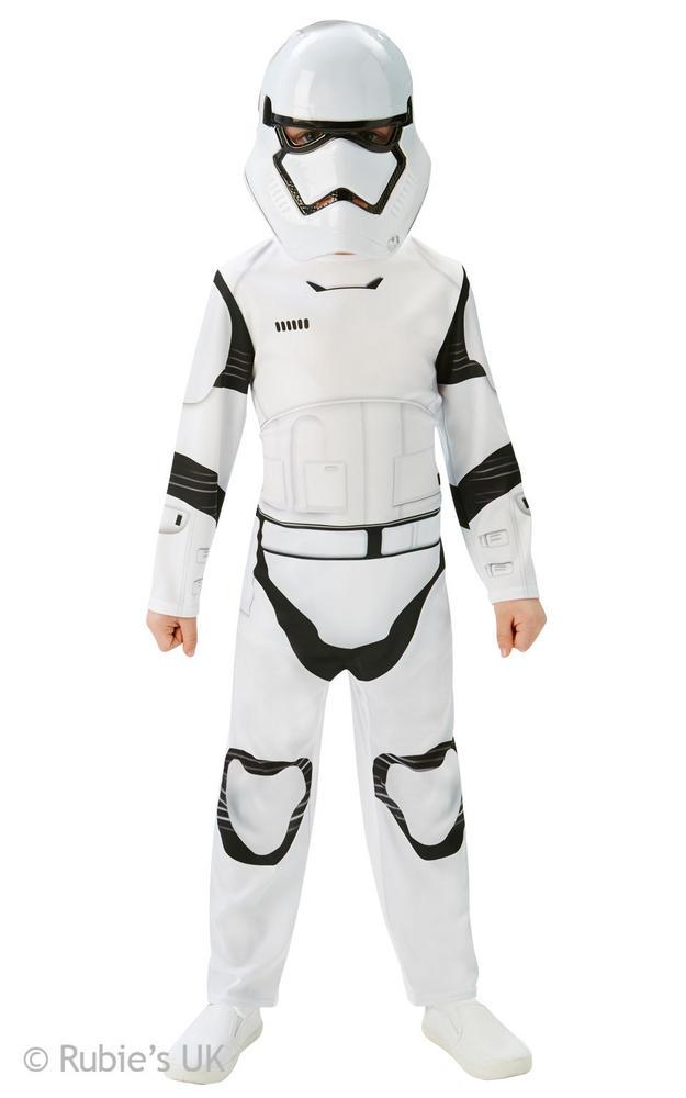 Boys Disney Star Wars Classic Storm Trooper Fancy Dress Costume