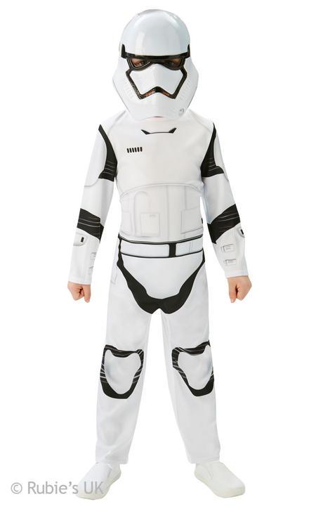 Boys Disney Star Wars Classic Storm Trooper Fancy Dress Costume  Thumbnail 1