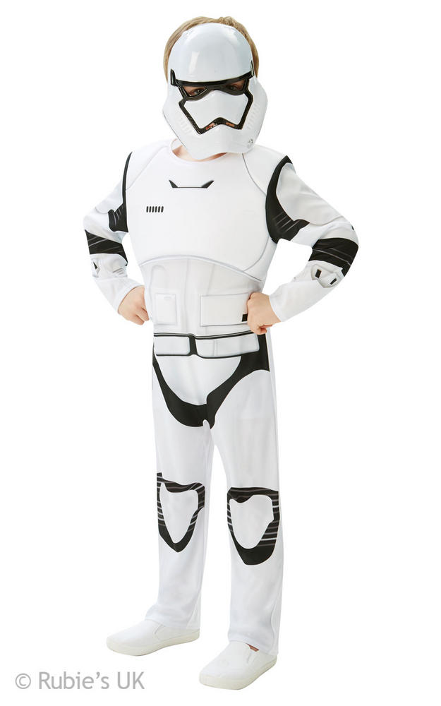 Boys Deluxe Disney Star Wars Stromtrooper Fancy Dress Costume