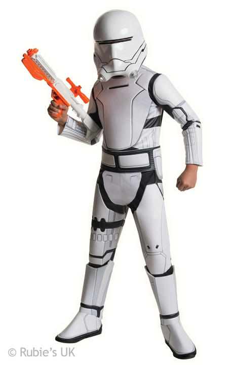 Boys Super Deluxe Star Wars  Stromtrooper Red Costume  Thumbnail 1