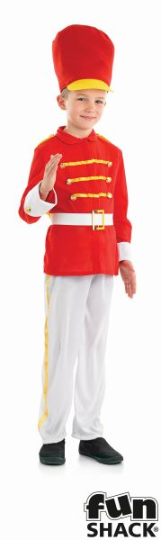 Boys Book Week Tin Soldier Boy Costume Kids Fancy Dress Outfit