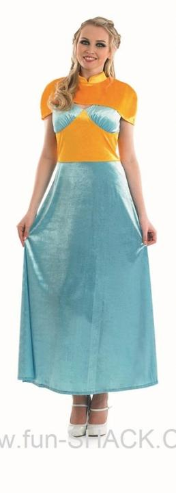 Womens Medieval Princess Fancy Dress Costume Thumbnail 1