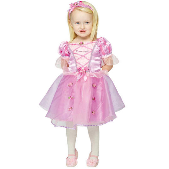 Disney Baby Girl Rapunzel Princess Fancy Dress Costume  Thumbnail 1