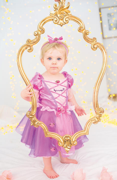 Disney Baby Girl Rapunzel Princess Fancy Dress Costume  Thumbnail 2