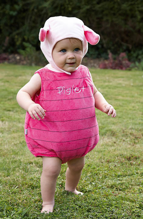 Disney Baby Winnie the Pooh Piglet Tabard Fancy Dress Costume Thumbnail 1