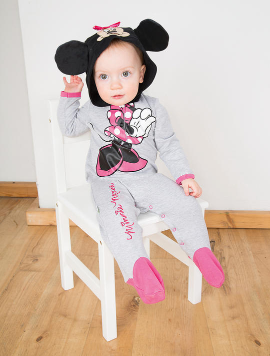 Disney Babys Minnie Mouse Jersy Romper Fancy Dress Costume  Thumbnail 1