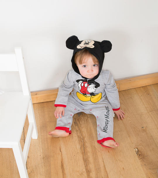 Disney Baby Mickey Mouse Jersey Romper Fancy Dress Costume Thumbnail 1