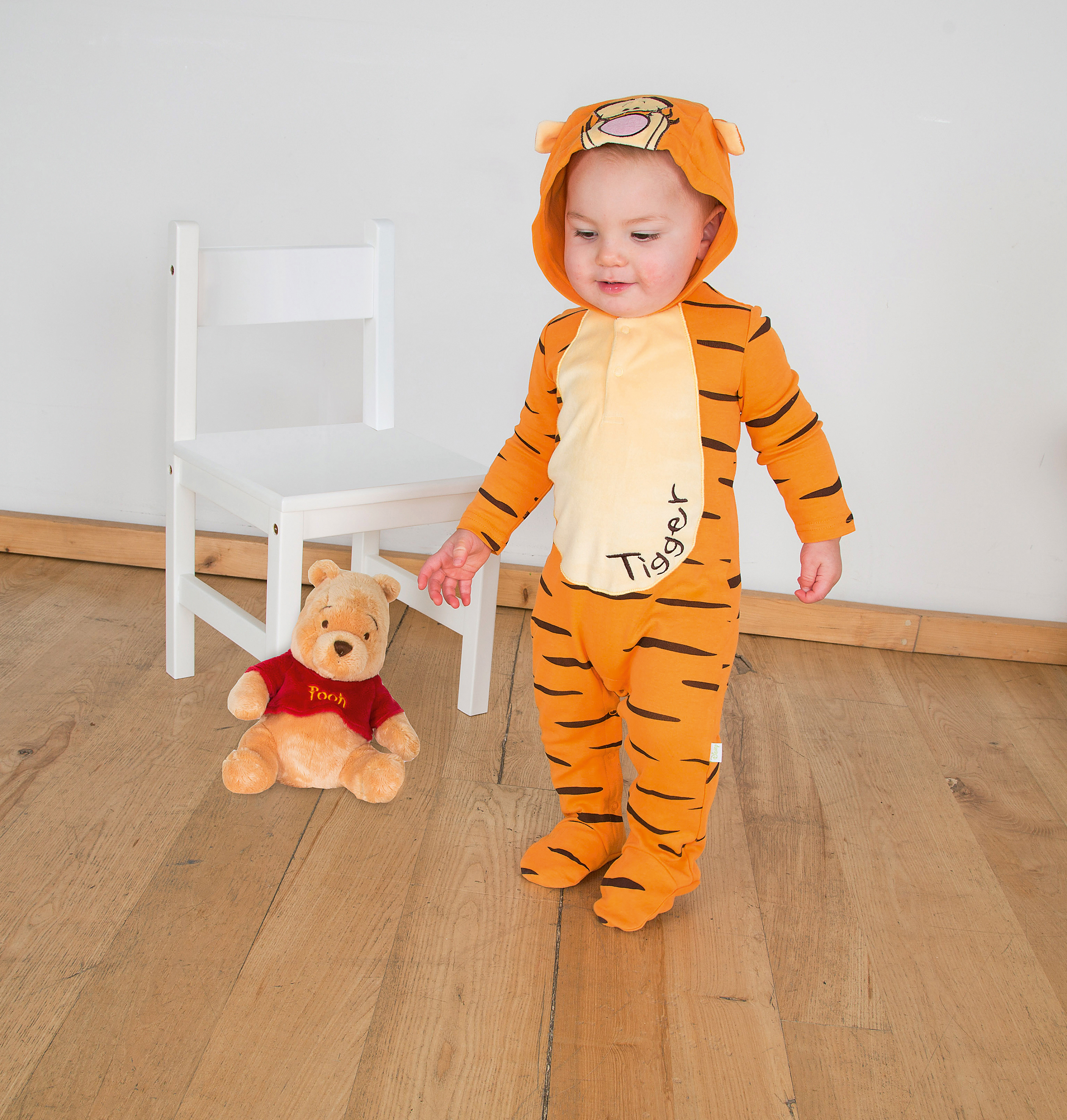 sc 1 st  Wonderland Party & Disney Baby Winnie the Pooh Tigger Jersey Romper Fancy Dress Costume