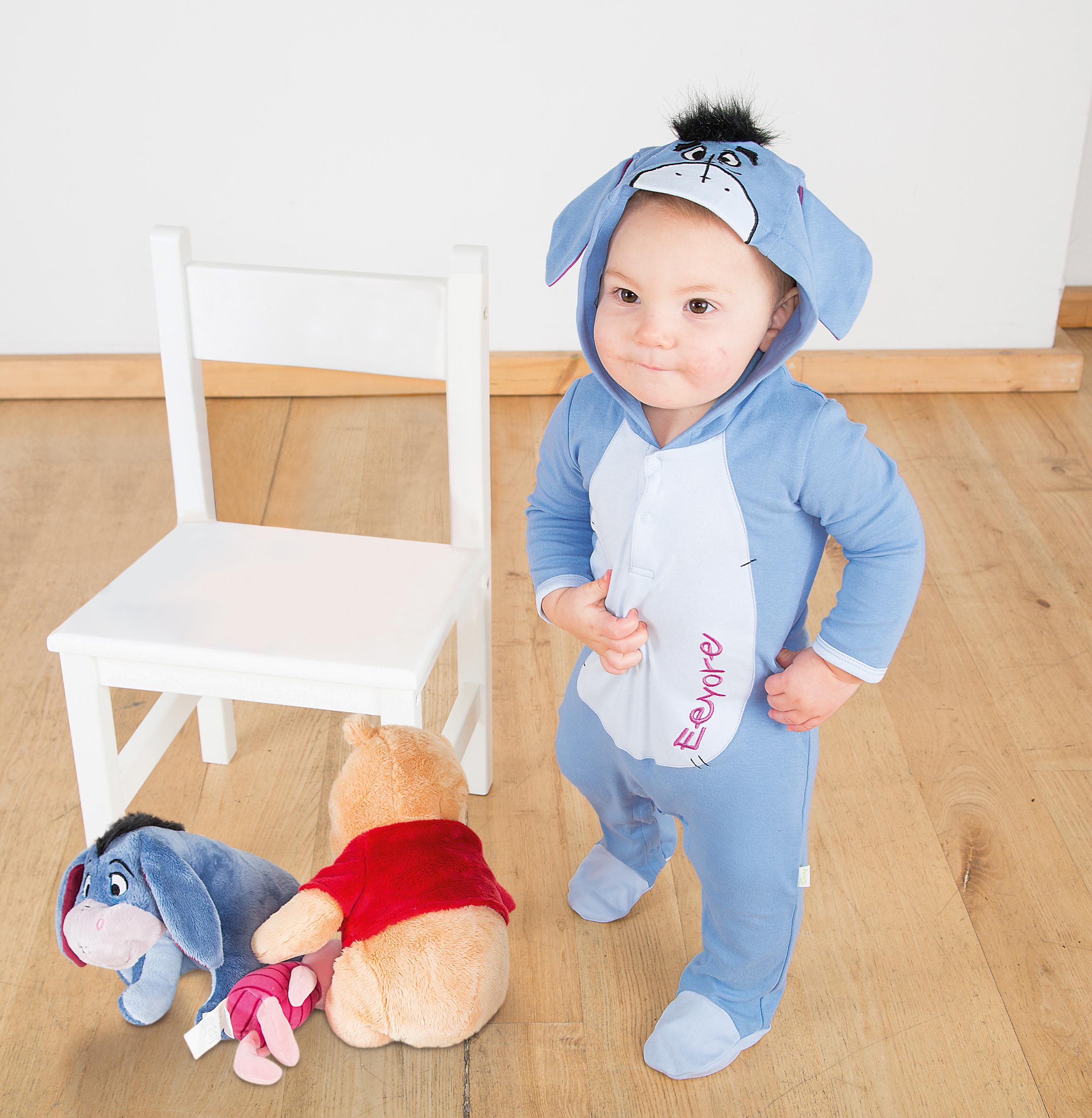 Disney Baby Winnie the Pooh Eeyore Jersey Romper Fancy Dress Costume