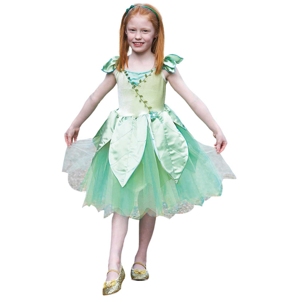 Girls Forest Leaf Fairy Fancy Dress Costume