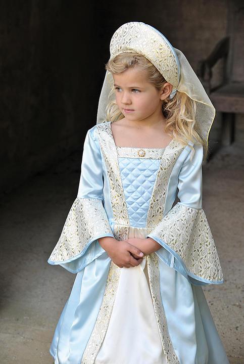 Girls Tudor Costume kids school book week fancy dress outfit Thumbnail 1
