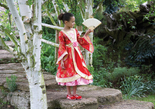 Girls Oriental Princess Fancy Dress Costume Thumbnail 2
