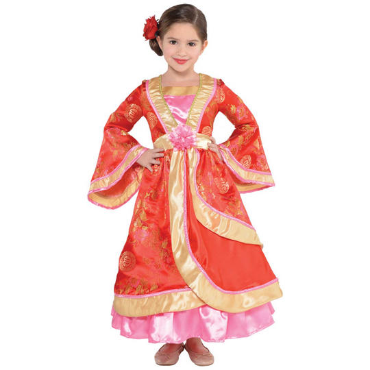 Girls Oriental Princess Fancy Dress Costume Thumbnail 1