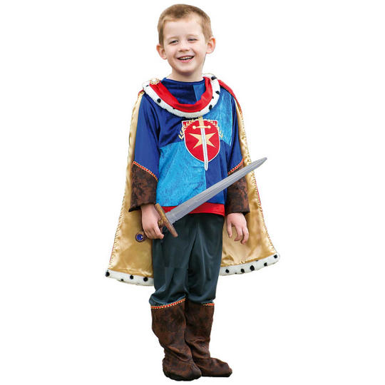 Boys Prince Charming Costume Kids School Book week Fancy Dress Story Outfit Thumbnail 1