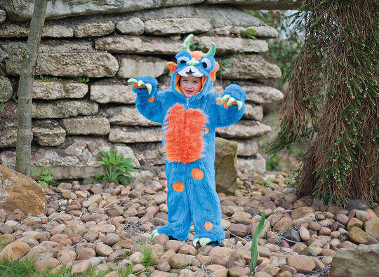 Childs Blue Monster Fancy Dress Costume  Thumbnail 1