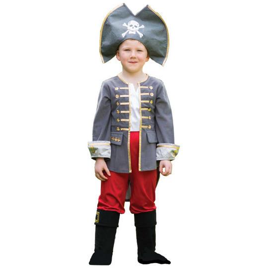 Boys Captain Fancy Dress Costume  Thumbnail 1