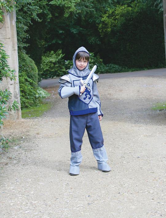 Boys Crusader Knight Costume Kids School Book Week Medieval Fancy Dress Outfit Thumbnail 2